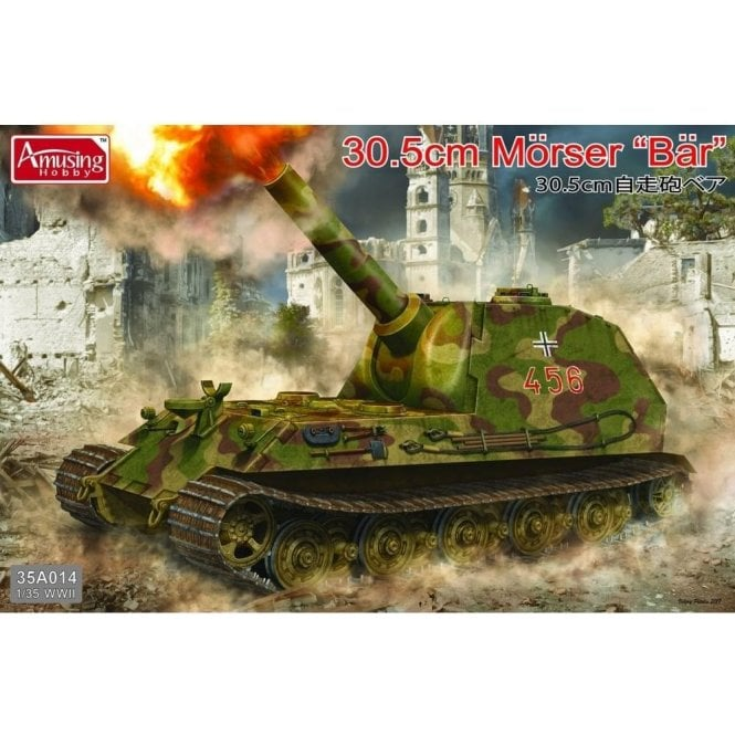 Amusing Hobby 1:35 30.5cm Morser ' BAR ' Military Model Kit