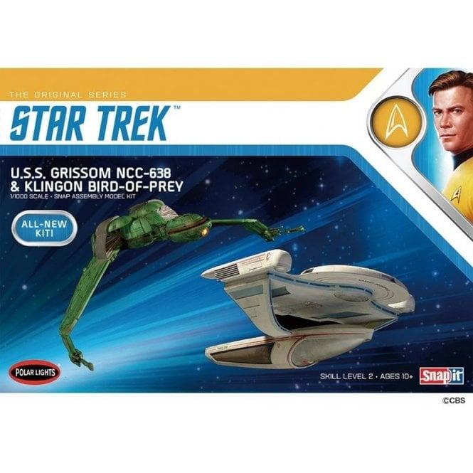 Polar Lights 1:1000 Star Trek U.S.S Grissom - Klingon Bird of Prey Twin Pack Model Kit