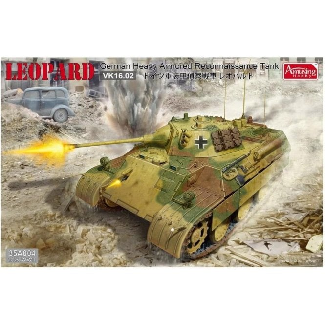 Amusing Hobby 1:35 Leopard VK16.02 German Heavy Armored Reconaissance Tank Military Model Kit