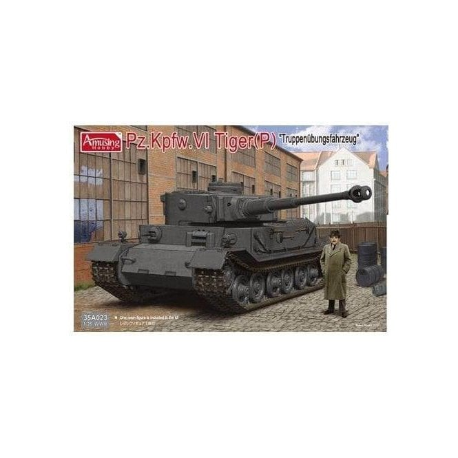 Amusing Hobby 1:35 Pz.Kpfw.VI Tiger(P) with Resin Figure of Ferdinand Porsche Military Model Kit