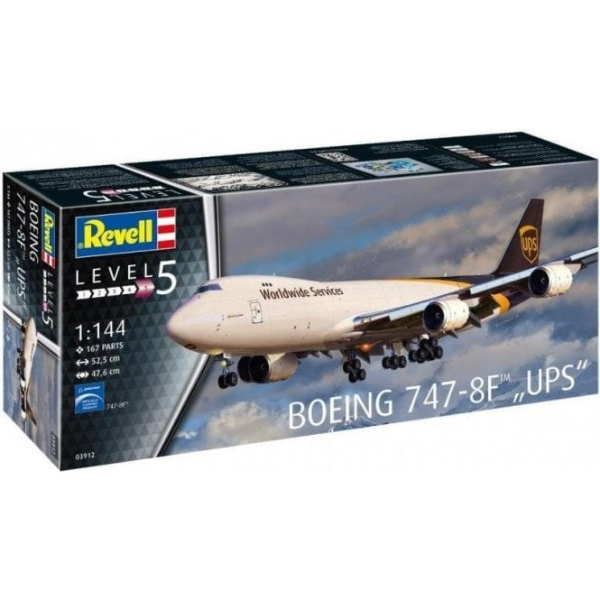 Revell 1:144 Boeing 747-8F UPS Aircraft Model Kit