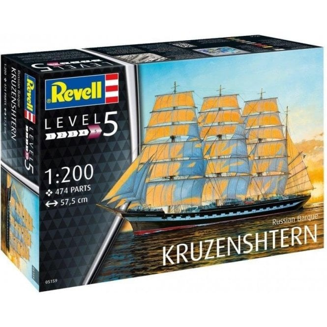 Revell 1:200 Russian Barque ' Kruzenshtern ' Model Ship Kit