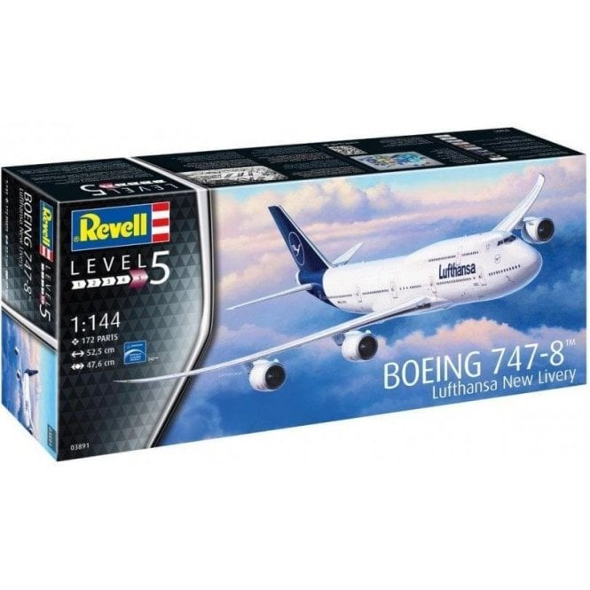 Revell 1:144 Boeing 747-8 Lufthansa (New Livery) Aircraft Model Kit