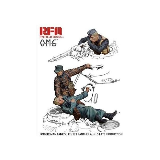 Rye Field Model 1:35 Late War German Tank Crew THE FALLEN Resin Military Model Kit