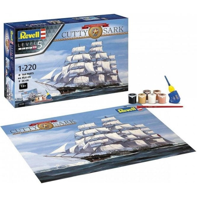 1:220 Gift Set Cutty Sark 150th Anniversary Model Ship Kit