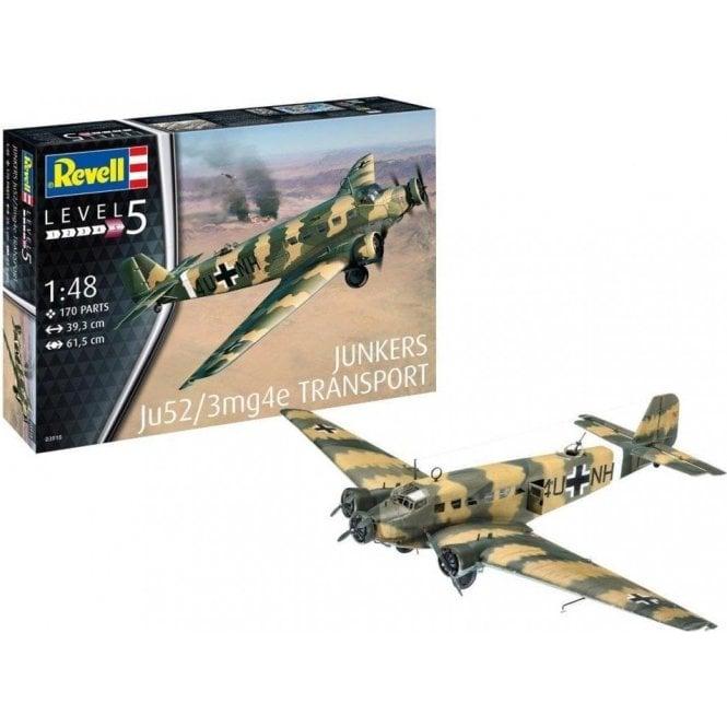 Revell 1:48 Junkers Ju52/3mg4e Transport Aircraft Model Kit