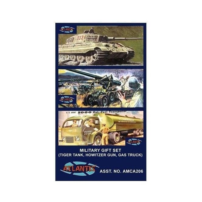 Atlantis Models 1:48 Military Gift Set 3 kits in 1 box Military Model Kit