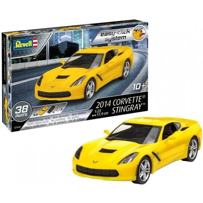 1:25 2014 Corvette Stingray ' Easy Click ' Car Model Kit