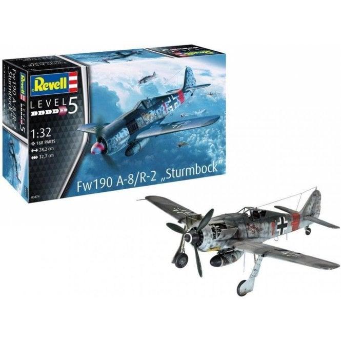 Revell 1:32 Focke Wulf FW190 A-8 Rammjager ' Sturmbock ' Aircraft Model Kit