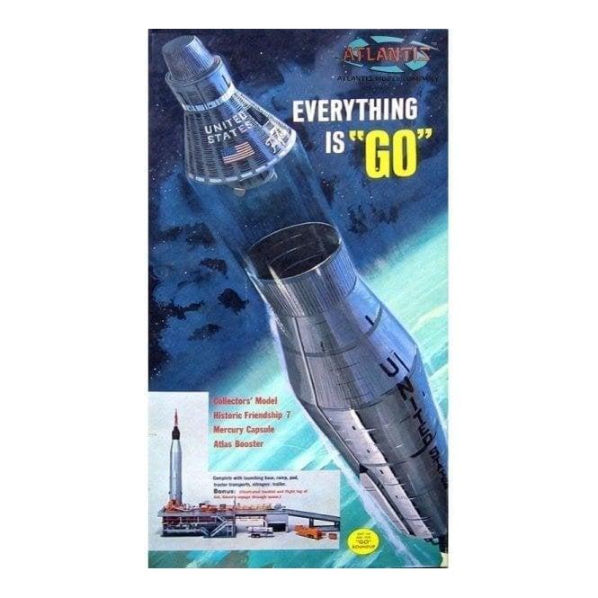 Atlantis Models 1:110 Atlas Missile w/Gantry ' Everything is Go ' Rocket Model Kit