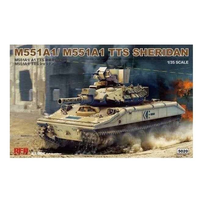 Rye Field Model 1:35 M551A1/ A1TTS Sheridan 2 in 1 Military Model Kit