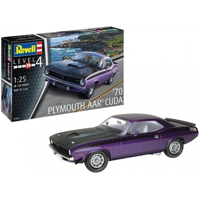 Revell 1:25 1970 Plymouth AAR Cuda Car Model Kit