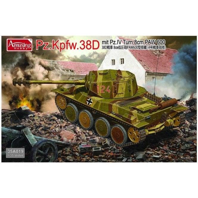 Amusing Hobby 1:35 Pz.Kpfw.38D Mit Pz.IV Turm 8cm PAW 600 Military Model Kit