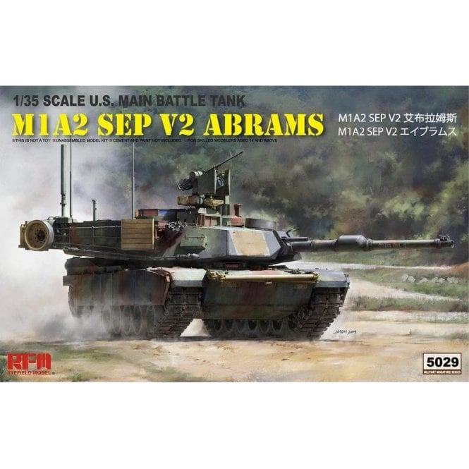 Rye Field Model 1:35 M1A2 SEP V2 Abrams Military Model Kit