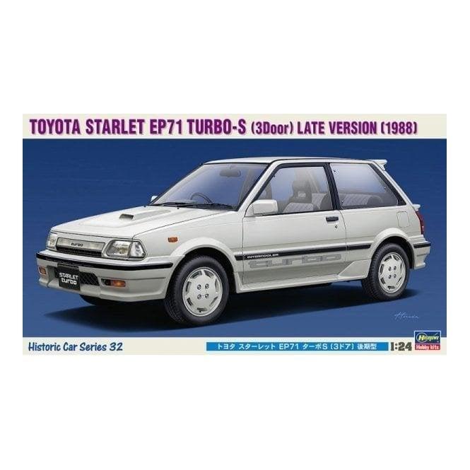 Hasegawa 1:24 Toyota Starlet EP71 Turbo-S '3-Door' Late Version Car Model  Kit