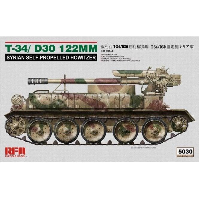 Rye Field Model 1:35 T-34/D-30 122Mm Syrian Self-Propelled Howitzer Military Model Kit