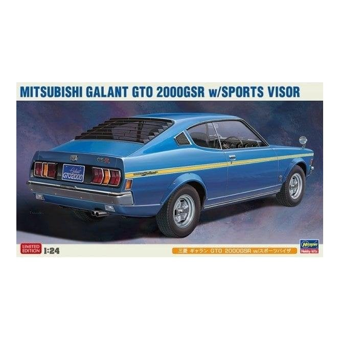 Hasegawa 1:24 Mitsubishi Galant GTO 2000 GSR with Sports Visor Car Model Kit