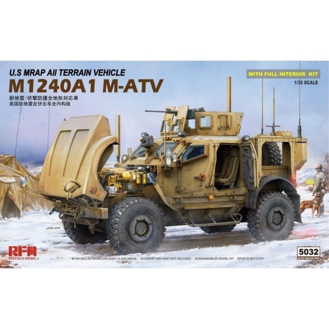 1:35 M1024A1 M-ATV US MRAP All Terrain Vehicle  Military Model Kit
