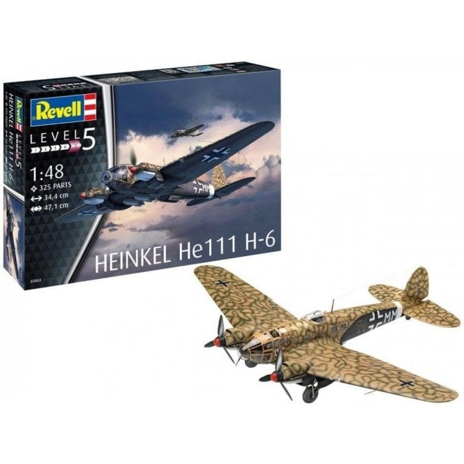 1:48 Heinkel He111 H-6 Model Aircraft Kit
