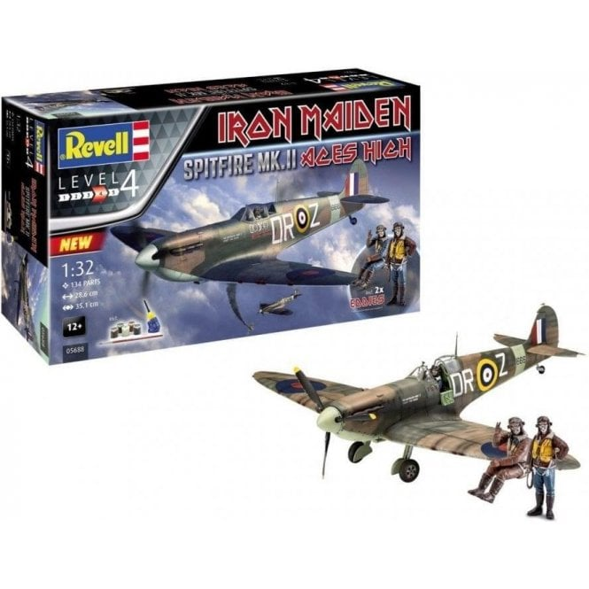Revell 1:32 Gift Set Spitfire Mk.II Iron Maiden 'Aces High ' Aircraft Model Kit