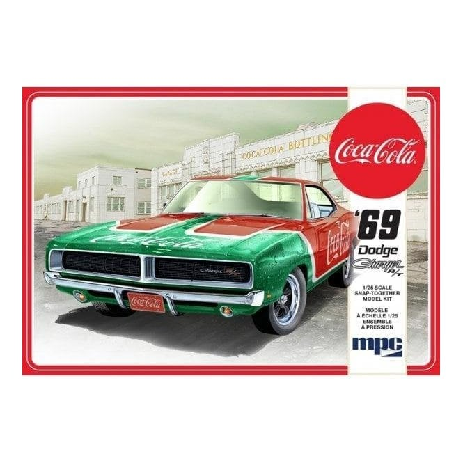 MPC 1:25 1969 Dodge Charger RT Coca Cola - SNAP KIT Model Kit