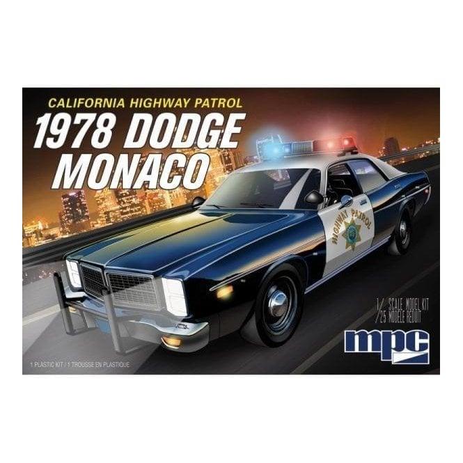 MPC 1:25 1978 Dodge Monaco CHP Police Car Model Kit