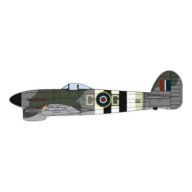 Oxford Diecast 1:72 Hawker Typhoon Mk1 121 Sqn RAF Holmsley South 1944 Model Plane