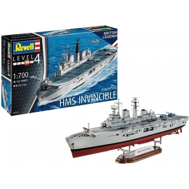 Revell 1:700 HMS Invincible (Falklands War) Model Ship Kit