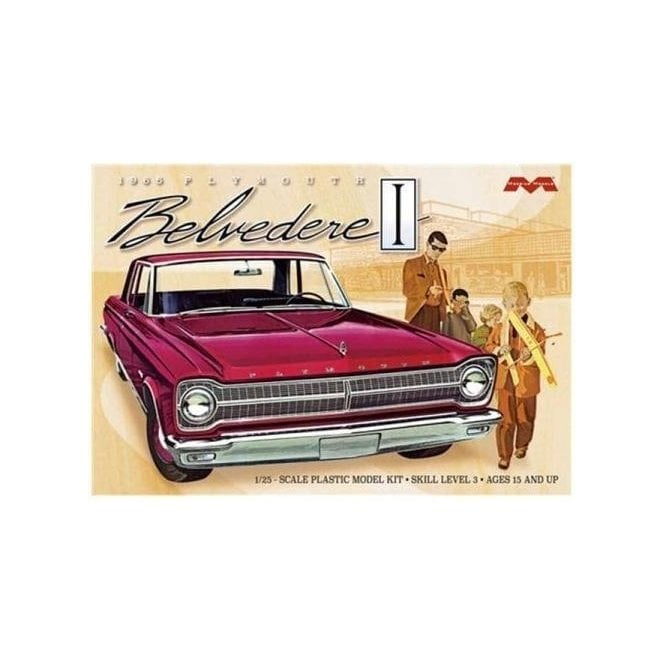 Moebius Models 1:25 1965 Plymouth Belvedere Car Model Kit