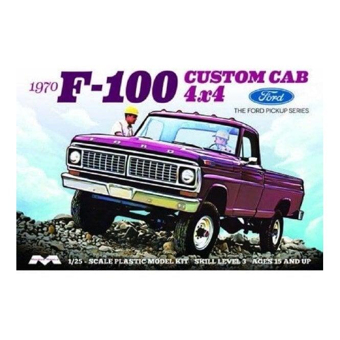 Moebius Models 1:25 1970 Ford F-100 Custom Cab 4x4 Car Model Kit