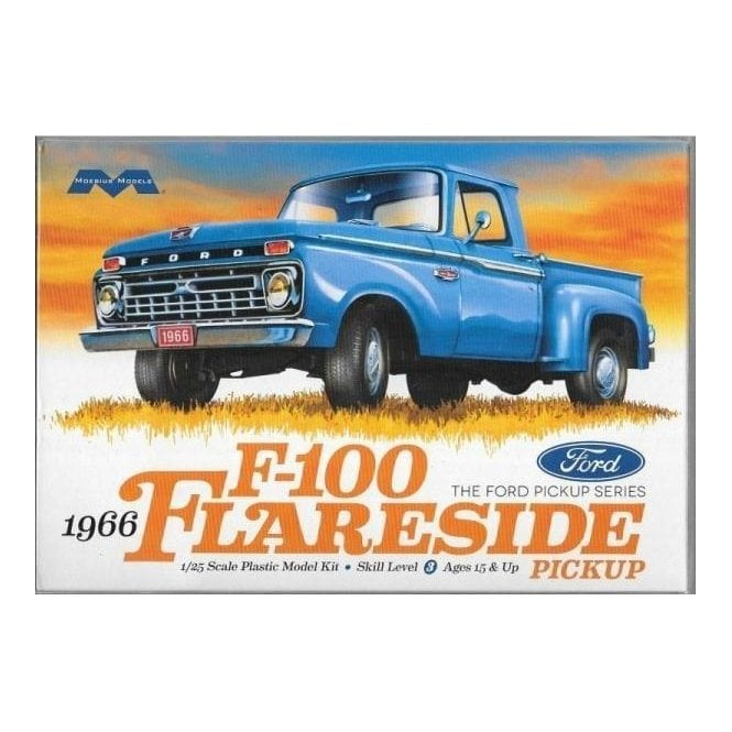 1:25 1966 Ford F-100 Flareside Pickup Car Model Kit