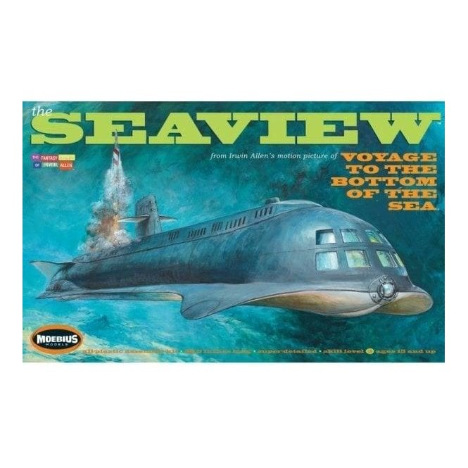Moebius Models Seaview - 8 Window Movie Version - Voyage to The Bottom of The Sea - 38.5 inch long Model Kit