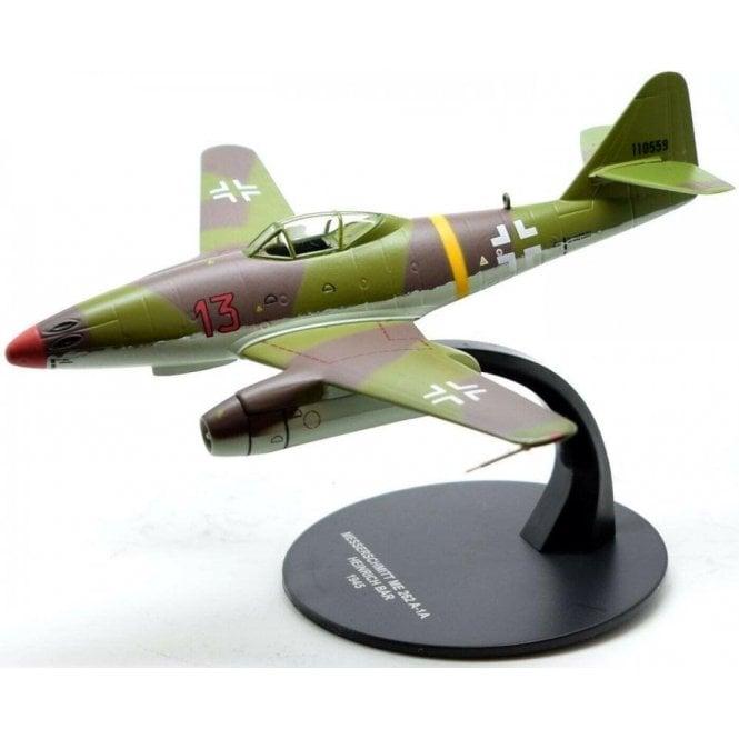 Atlas Editions 1:72 Messerschmitt ME 262 A-1A, Luftwaffe III/EJG 2 Richthofen, Red 13, Heinz Bar, 1945 Model Plane