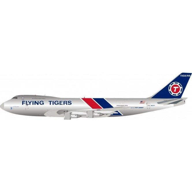InFlight 200 Boeing B747-400 Flying Tigers (Polished) Reg - N810FT - 1:200 Scale