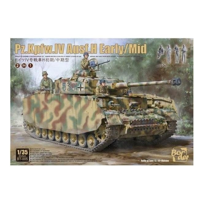 Border Models 1:35 Pz.Kpfw.IV IV Ausf. H Early/Mid & 4 crew, Battle for Normandy Military Model Kit