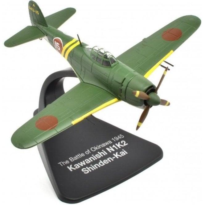 Atlas Editions 1:72 Kawanishi N1K2 Shinden-Kai ' Battle of Okinawa 1945 ' Model Plane