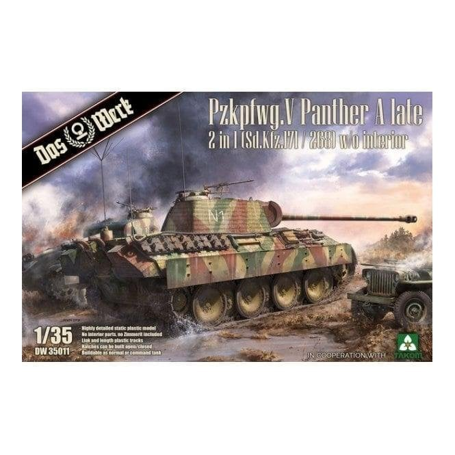 Das Werk 1:35 Pzkpfwg.V Panther Ausf.A Late 2 in 1 Military Model Kit