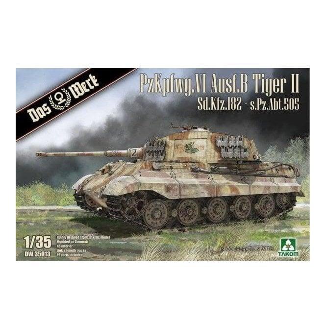 Das Werk 1:35 King Tiger Sd.Kfz.182 - s.Pz.Abt.505 with Zimmerit Tank Military Model Kit