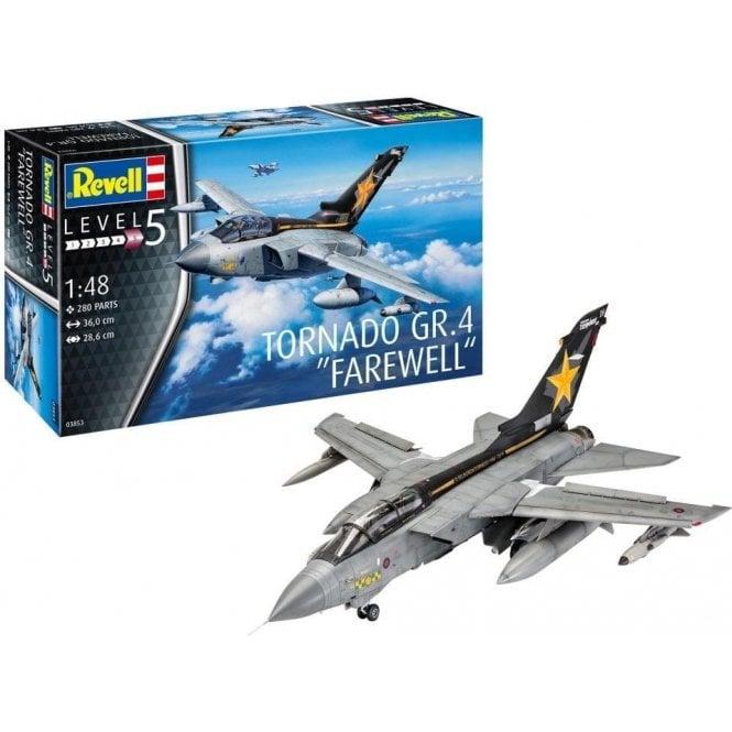 Revell 1:48 Tornado Gr.4 ' Farewell Scheme ' Goldstars, Greenbat & ZG752 Retro Scheme Model Kit