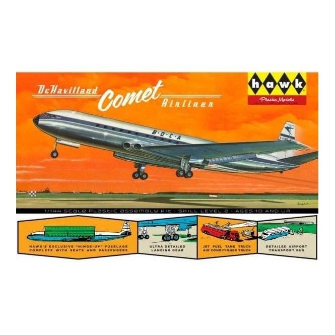 Linberg (HAWK) 1:144 DeHavilland Comet Jetliner Aircraft Model Kit