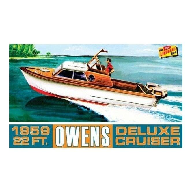 Linberg 1:25 Owens Outboard Cruiser Boat Model Kit