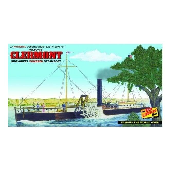 Linberg 1:96 Fulton's Clermont Paddle Wheel Steamship Model Kit