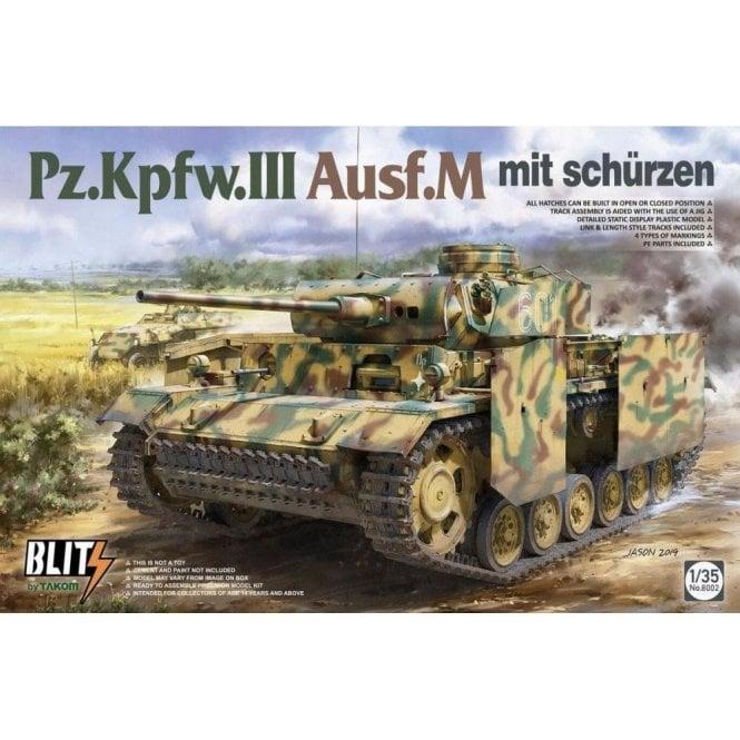 Takom 1:35 Pz.Kpfw.III Ausf.M mit Schürzen  Model Military Kit