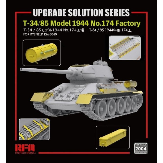 Rye Field Model 1:35 Upgrade Etch Parts Set For RM5040 T-34/85 Model 1944 No.174 Factory Military Model Kit