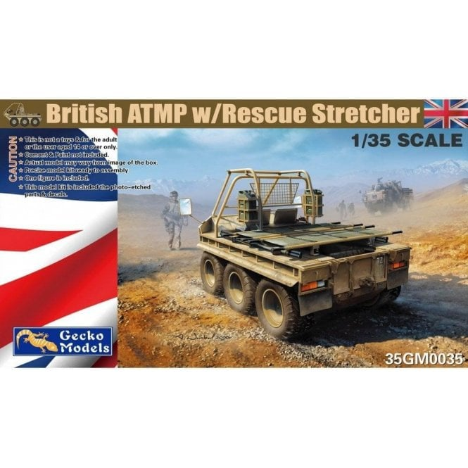 1:35 British ATMP w Rescue Stretcher and Driver Figure Military Model Kit