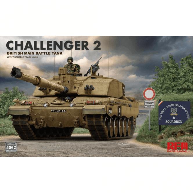 Rye Field Model 1:35 Challenger II British Main Battle Tank (Standard fit Military Model Kit