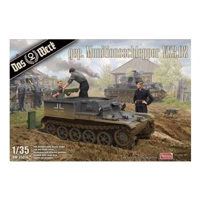 Das Werk 1:35 Armored ammunition tractor VK3.02 Military Model Kit