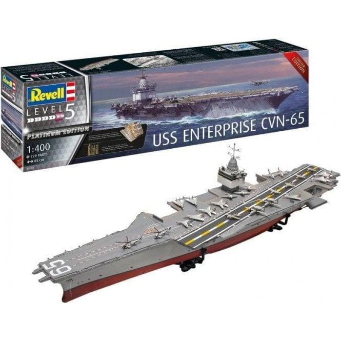 Revell 1:400 USS Enterprise CVN-65 Platinum Edition Model Ship Kit