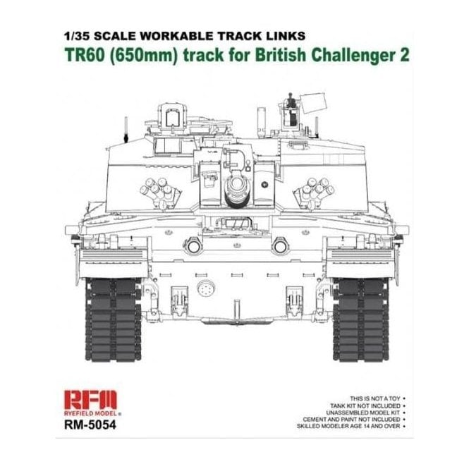 Rye Field Model 1:35 Workable track links For Challenger 2 Military Model Kit