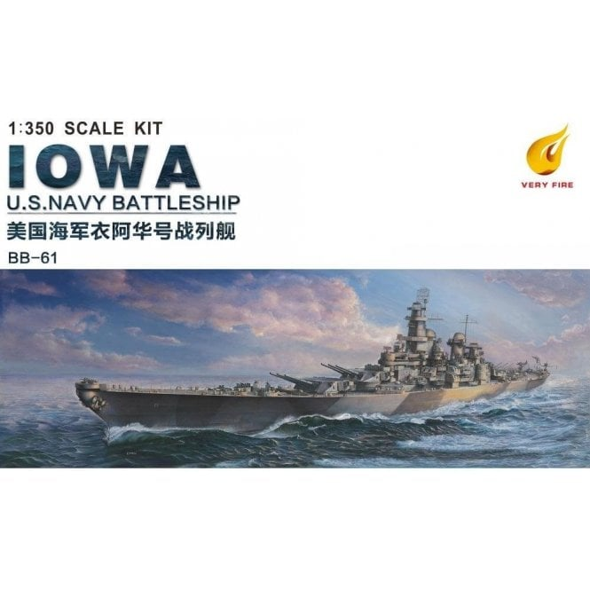 Very Fire 1:350 USS Iowa US Navy BB-61 Battleship Model Ship Kit